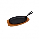 Sizzle Platter Black Cast Iron Oval 24cm x 15.5cm (Sold Singly)