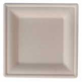 Eco-Fibre Compostable Wheat Square Plates 200mm (Pack of 500)