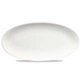 Churchill White Oval Chefs Plate 13 3/4 x 6 3/4 Inch