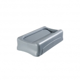 Slim Rectangular Lid Swing Lid Grey (Sold Singly)