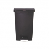 Slim Step-On Bin Front Step 50 ltr Black (Sold Singly)