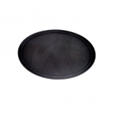 Black Tray Oval 68 x 56cm Anti Slip (Sold Singly)