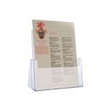A4 Card & Leaflet Holder Clear Acrylic (Sold Singly)