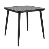 Cafe 4 Leg Table - Vintage Black - 75x75cm