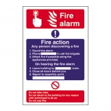 Safety Sign Fire Alarm Instruction Signs (Sold Singly)