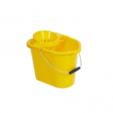 Mop Bucket With Wringer Yellow 12ltr (Sold Singly)