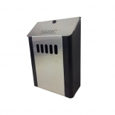 Wall Mounted Cigarette Bin - Black (Sold Singly)