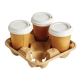Disposable Cup Carry Trays 4 Cup (Pack of 180)