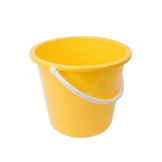 Plastic Bucket 10ltr Yellow (Sold Singly)