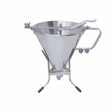Automatic Piston Funnel & Stand Stainless Steel 1.5L