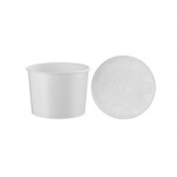 16oz White Food Container c/w PP Lid 250 Per Case