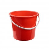 Plastic Bucket 10ltr Red (Sold Singly)