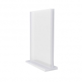 A5 Menu Holder Clear Acrylic With Base (Sold Singly)