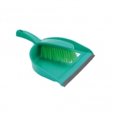 Dustpan And Brush Set Stiff Brush Green (Sold Singly)