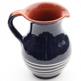ABS Pottery ABS Terracotta Traditional Jug (Blue w/Cream Swirl)