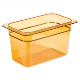 Gastronorm Container High Heat 1/4 100mm Amber (Sold Singly)
