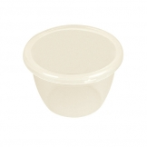 Pudding Basin Polypropylene 14cl 7cm With Lid (Sold Singly)