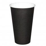 Fiesta Single Wall Takeaway Coffee Cups Black 455ml / 16oz x 50 (Pack of 50)