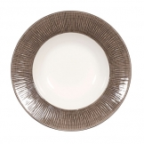 Bamboo Spinwash Dusk Deep Coupe Plate 9 7/8 Inch (12 pcs)