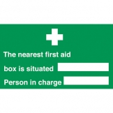Nearest First Aid Box & Who Is In Charge (Sold Singly)