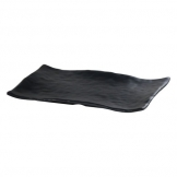 Mirage Martello Black Rectangle Platter 33 x 23cm (Sold Singly)