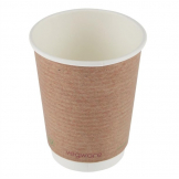 Vegware Compostable Coffee Cups Double Wall 340ml / 12oz (Pack of 500)
