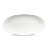 Churchill White Oval Chefs Plate 11 4/5 x 5 3/4 Inch