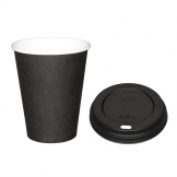 Special Offer  Fiesta Black 340ml Hot Cups and Black Lids (Pack of 1000)