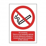 10 x 10cm Clear Nosmoking Sign