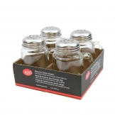 Mason Jar Shaker, Perforated Stainless Steel Top (4 pcs)
