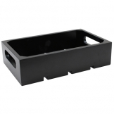 1:4 Gastro Serving & Display Crate, Black. (Sold Singly)