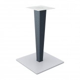 890 Rive Dining Table Base - Grey Wicker