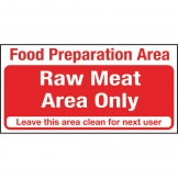 Kitchen Food Safety Raw Meat Area Only (Sold Singly)