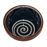 ABS Pottery ABS Terracotta 13cm Bowl (Blue with Cream Swirl)