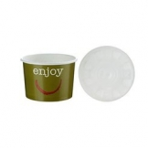 8oz Enjoy Food container c/w Lid 250 Per Case