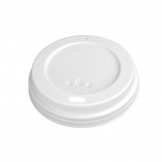 White Lid For Fiesta 340ml / 12oz and 455ml / 16oz Disposable Coffee Cups x 50 (Pack of 50)
