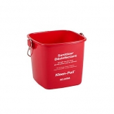 Kleen-Pail Commercial Cleaning Bucket Red 6qt (Sold Singly)