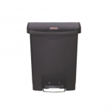 Slim Step-On Bin Front Step 30 ltr Black (Sold Singly)
