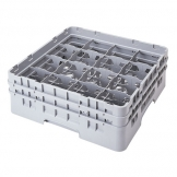 Cambro Camrack Glass Rack 16 Compartments Grey (Sold Singly)