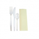Plastico Deluxe Prewrapped Disposable Cutlery Sets (Pack of 200)