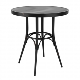 Cafe 4 Leg Table - Vintage Black - 75cm Dia