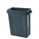 Svelte Bin with Venting Channels 60L, Grey (Sold Singly)