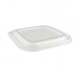 750ml Shallow Sqr Bagasse Bowl PET Lid 300 Per Case