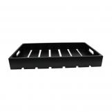 1:2 Gastro Serving & Display Crate, Black. (Sold Singly)