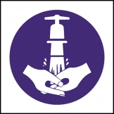 Kitchen Food Safety Wash Your Hands Symbol (Sold Singly)