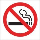 Safety Sign No Smoking Symbol (Sold Singly)