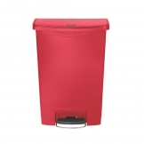 Slim Step-On Bin Front Step 90 ltr Red (Sold Singly)