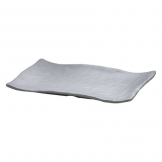 Mirage Martello Grey Rectangle Platter 33 x 23cm (Sold Singly)