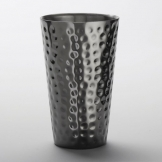 American Metalcraft Tumbler Stainless Steel Hammered Black 16oz