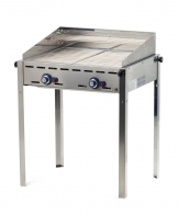Hendi Green Fire with 2 burners - 2 Stainless steel Gastronorm 1/1 barbecue grids